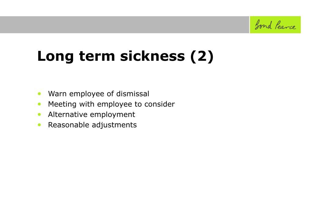 Long term sickness (2)