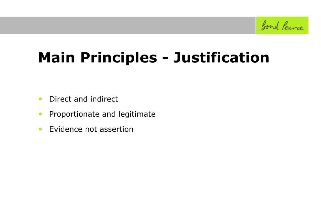 Main Principles - Justification