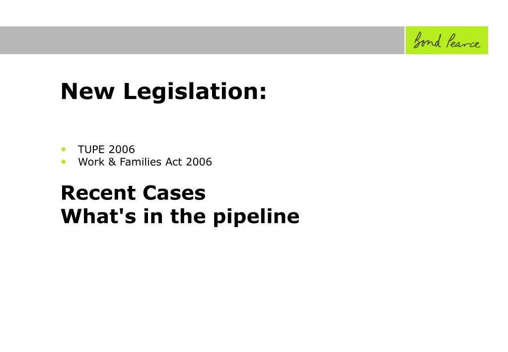 New Legislation:
