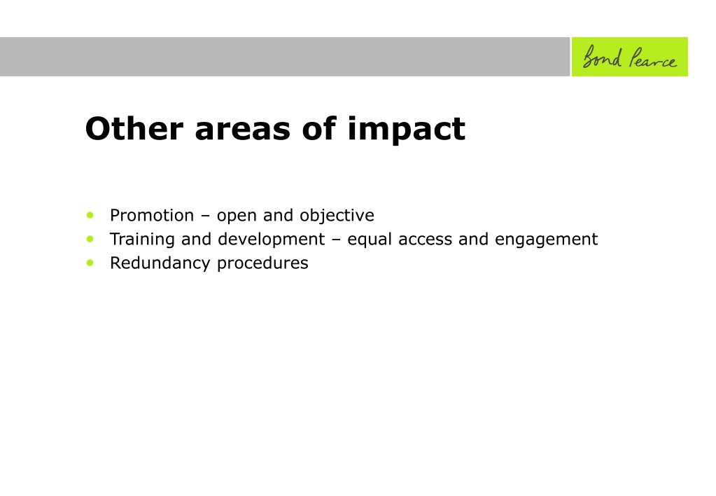 Other areas of impact