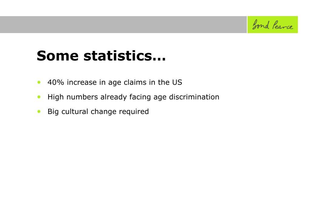 Some statistics…
