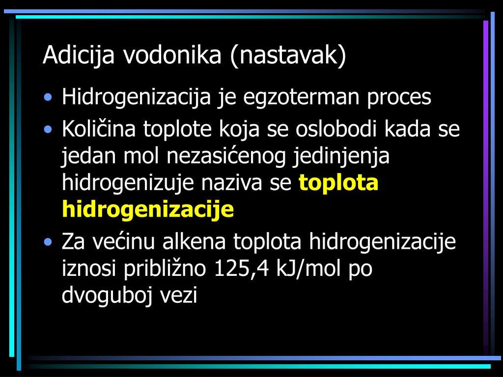 Adicija vodonika