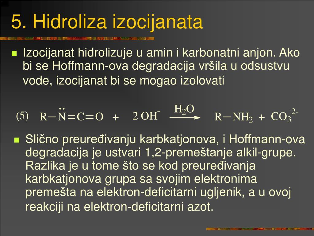 5. Hidroliza izocijanata