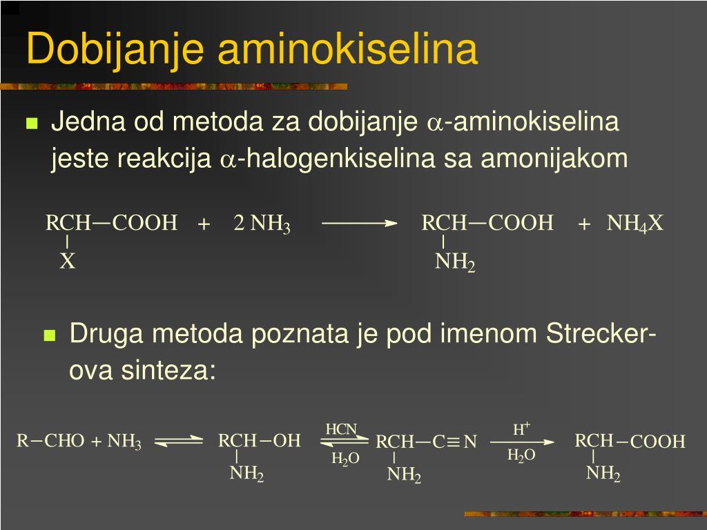 Dobijanje aminokiselina
