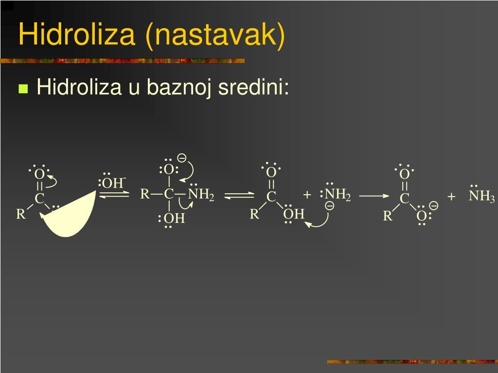 Hidroliza (nastavak)