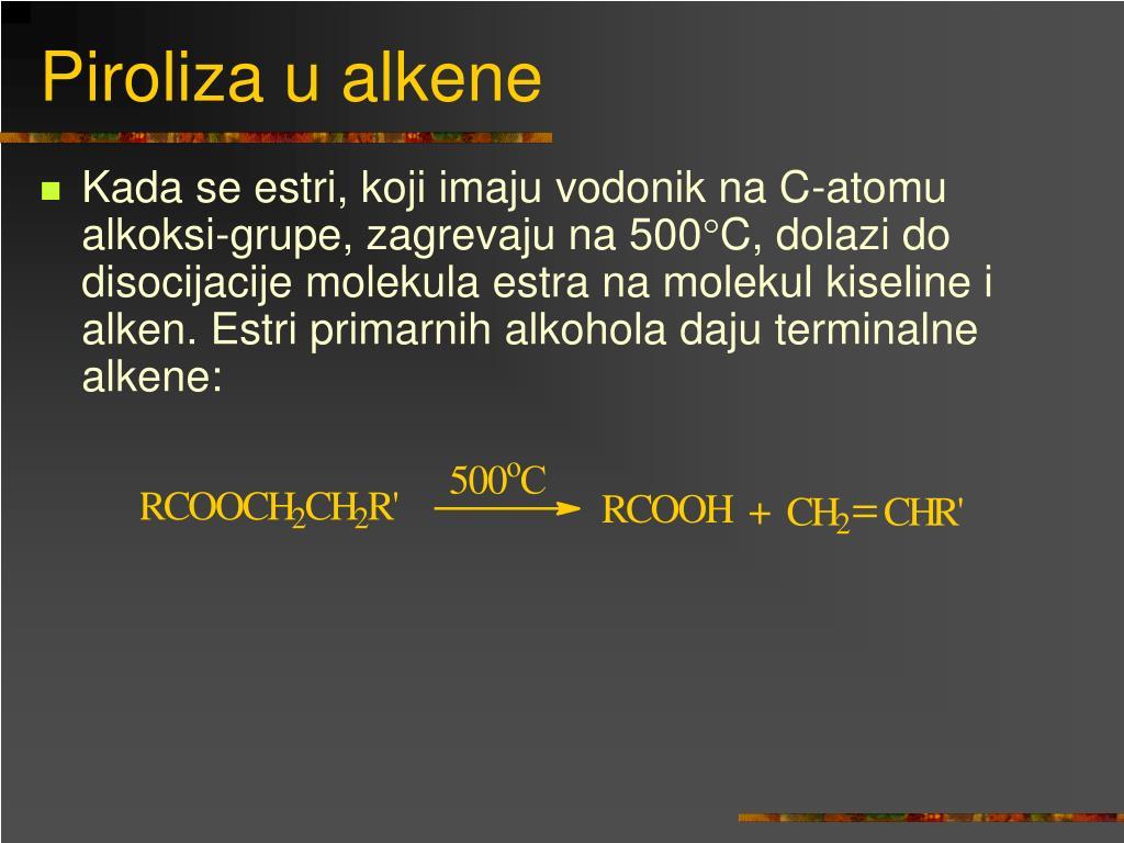 Piroliza u alkene