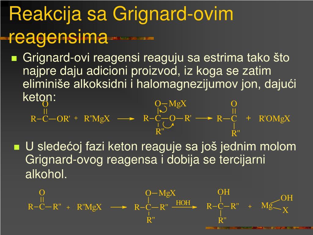 Reakcija sa Grignard-ovim reagensima