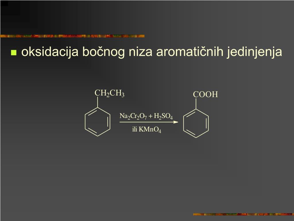 oksidacija bočnog niza aromatičnih jedinjenja