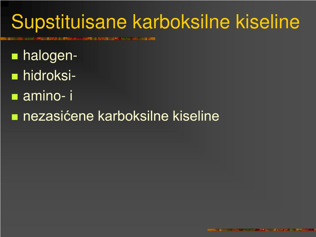 Supstituisane karboksilne kiseline