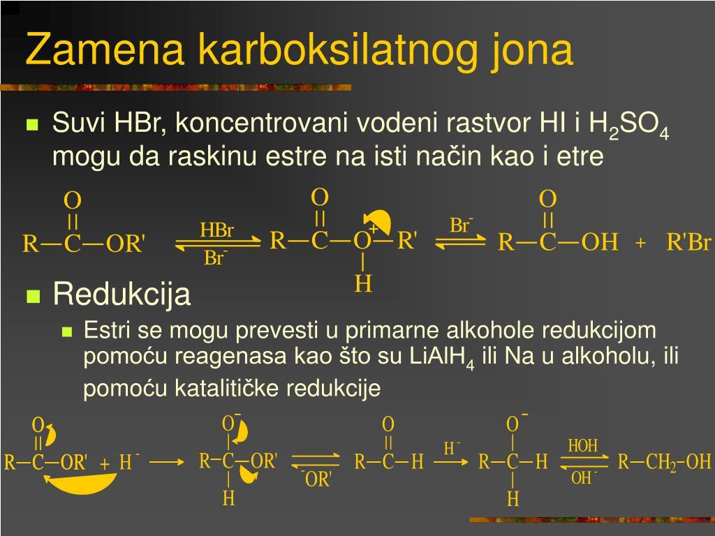 Zamena karboksilatnog jona