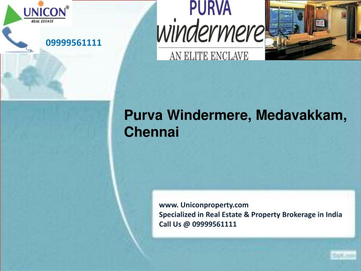 Purva windermere apartments chennai for booking call at 09999561111