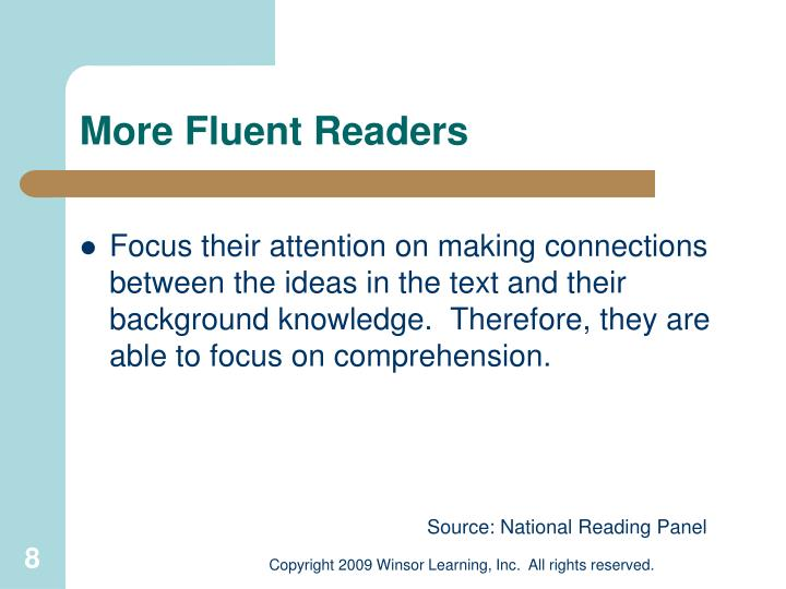 More Fluent Readers