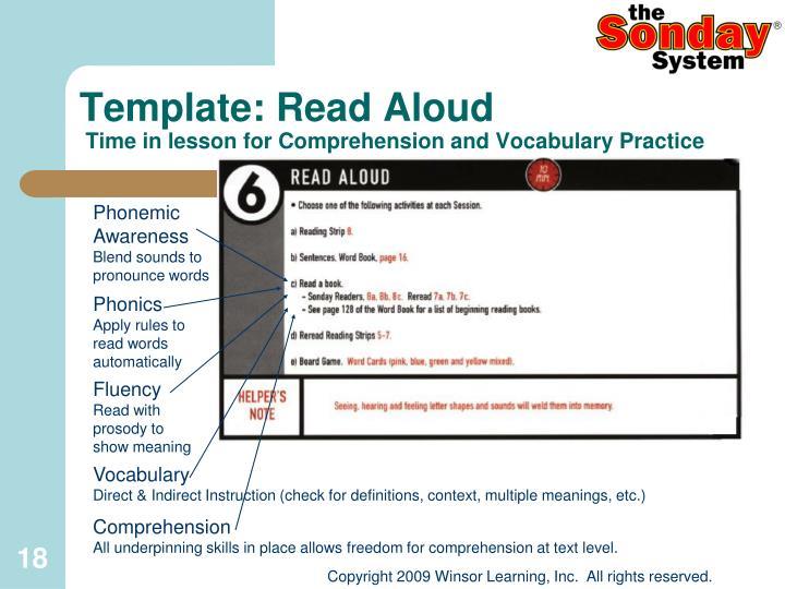 Template: Read Aloud