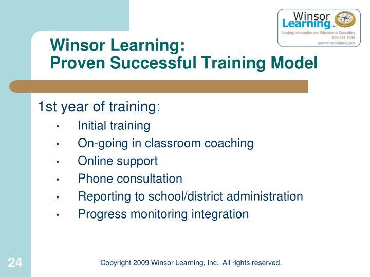 Winsor Learning: