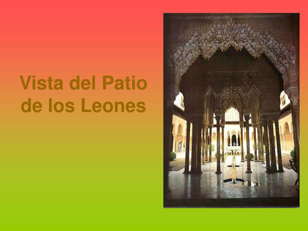 Vista del Patio de los Leones