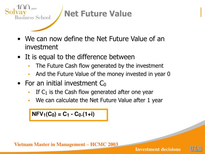 Net Future Value
