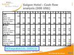 saigon hotel cash flow analysis 000 us
