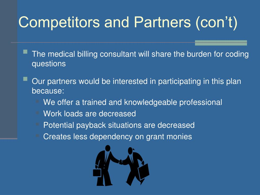 Competitors and Partners (con't)
