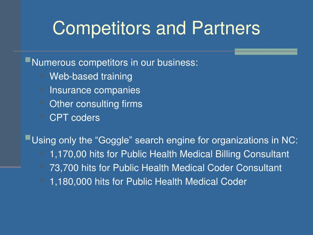 Competitors and Partners