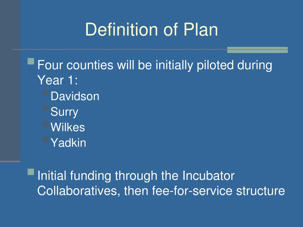 Definition of Plan