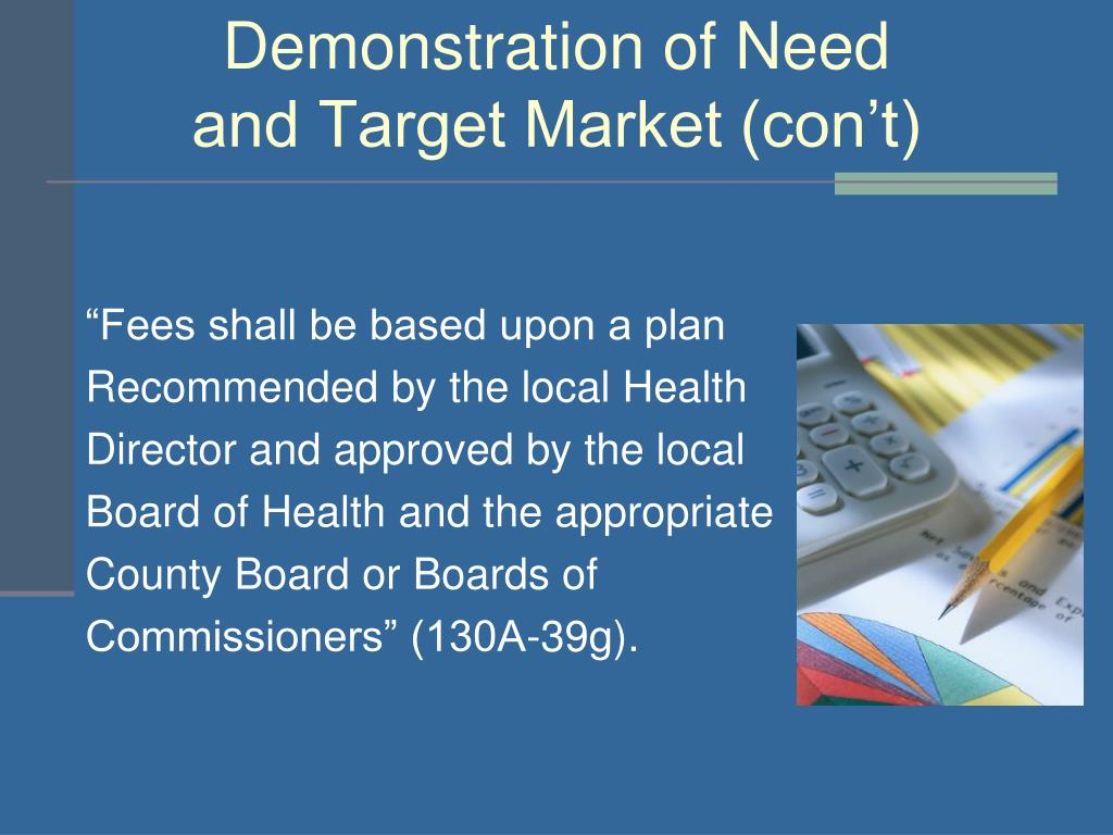 Demonstration of Need