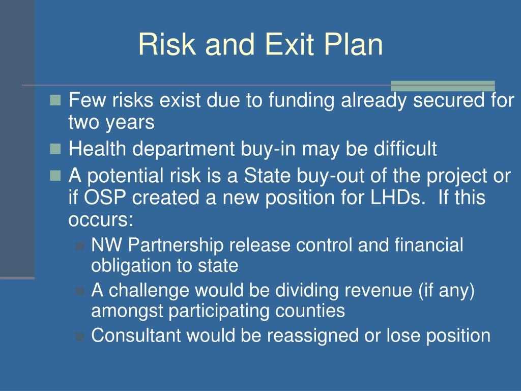 Risk and Exit Plan