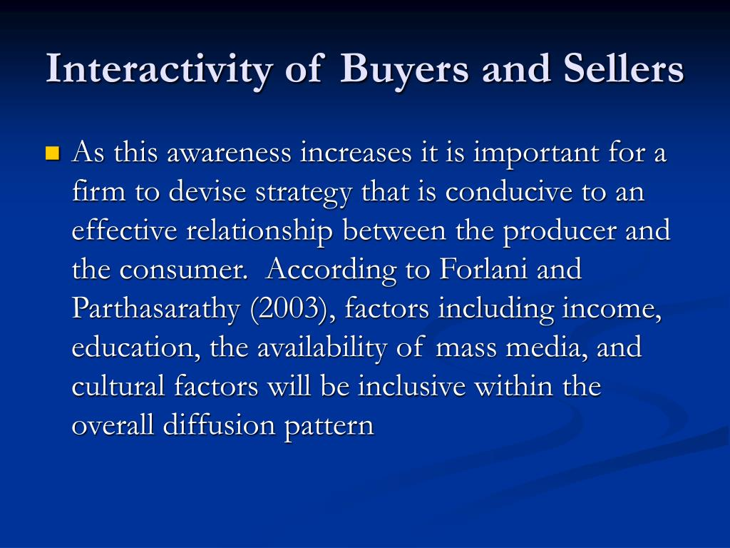 buyer and seller relationship in the Buyer and seller use of a real estate agent in the process of buying or selling a home remains at a historical high on the buying side, 88 percent of buyers purchased a home while using a real estate agent or broker—up from 69 percent in 2001.
