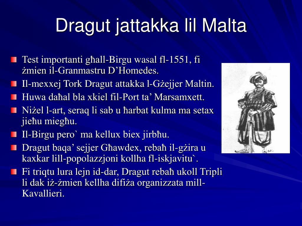 Dragut jattakka lil Malta
