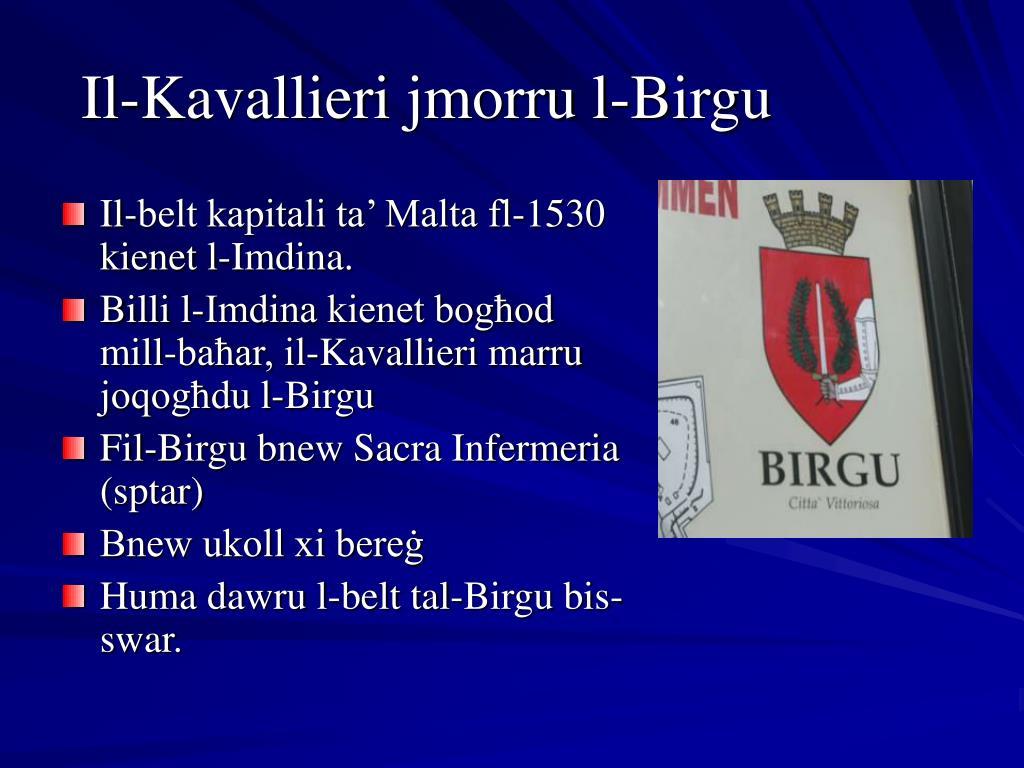 Il-Kavallieri jmorru l-Birgu