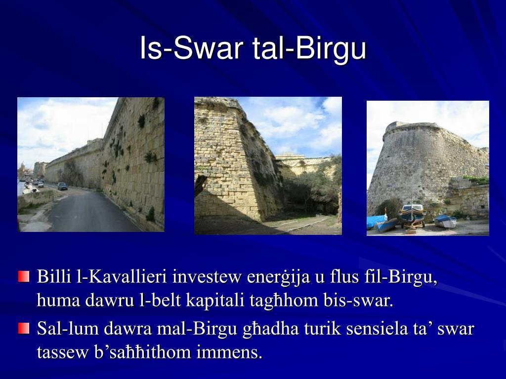 Billi l-Kavallieri investew enerġija u flus fil-Birgu, huma dawru l-belt kapitali tagħhom bis-swar.