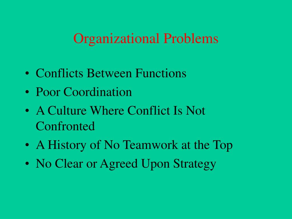 Organizational Problems