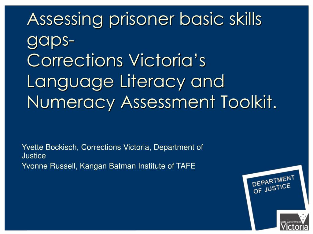 Assessing prisoner basic skills gaps-