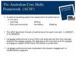 the australian core skills framework acsf