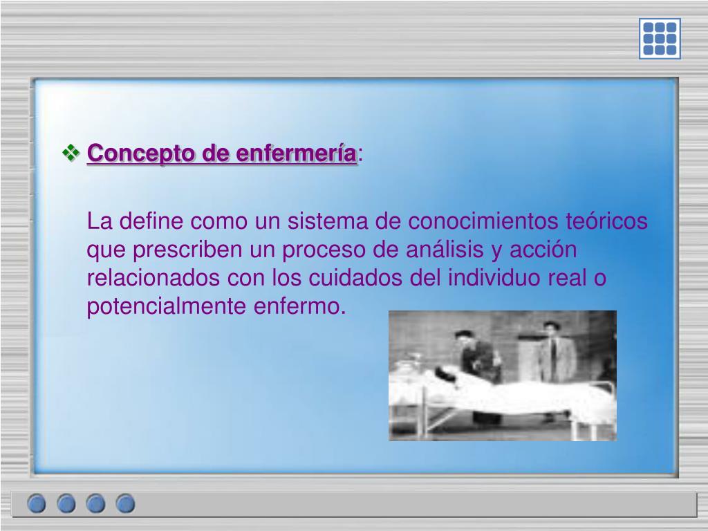 Concepto de enfermería