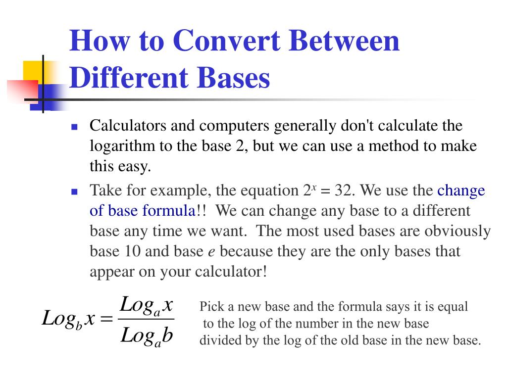 How to Convert Between Different Bases
