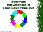becoming knowledgeable some basic principles