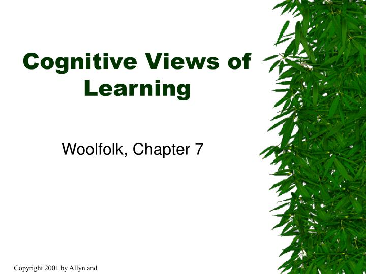 Cognitive views of learning l.jpg