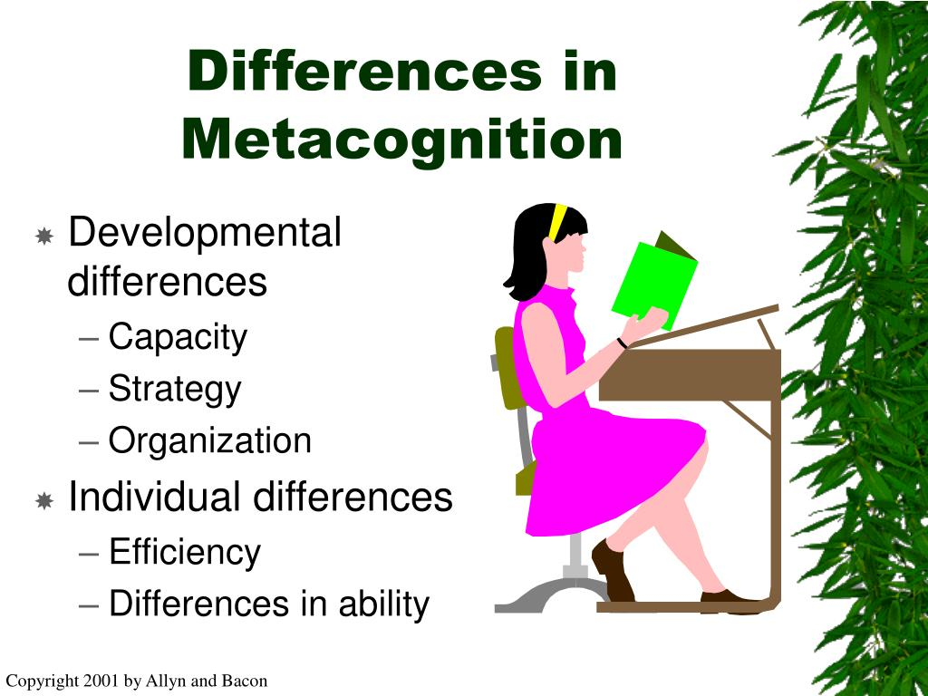 Differences in Metacognition
