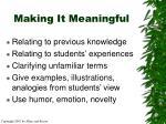 making it meaningful