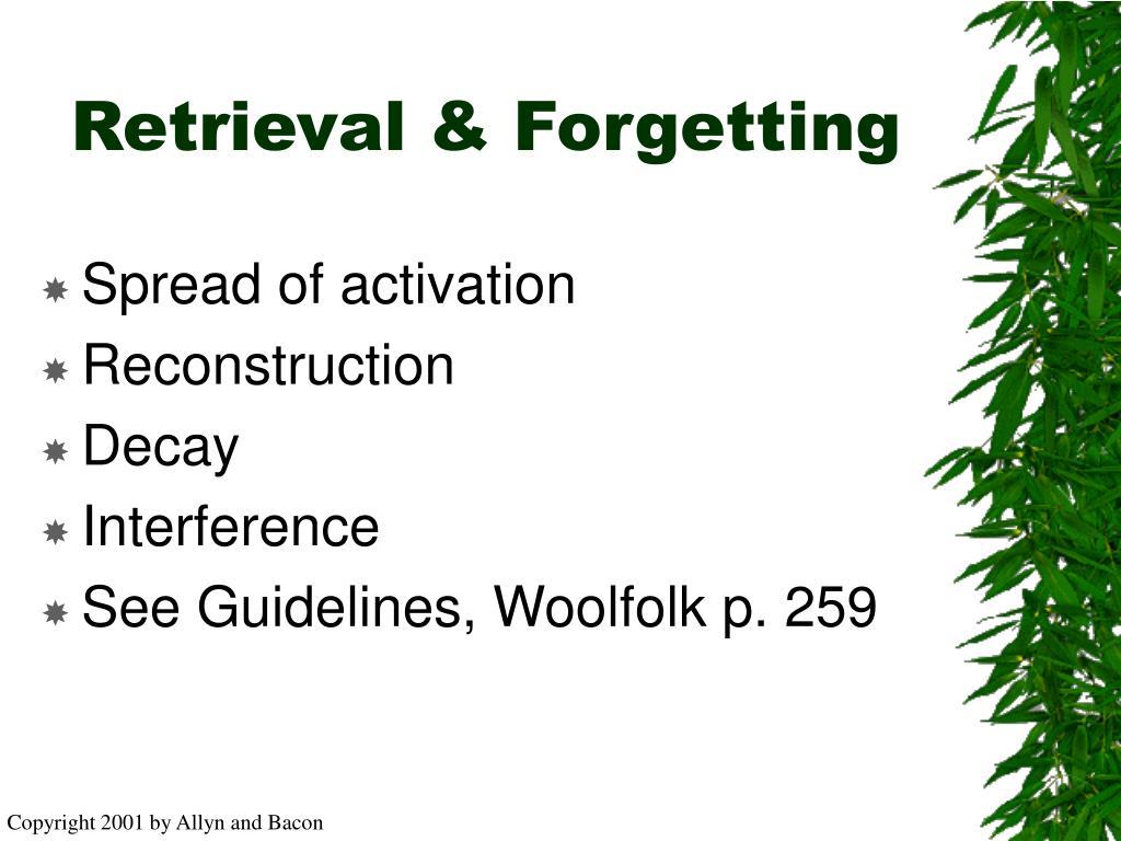Retrieval & Forgetting