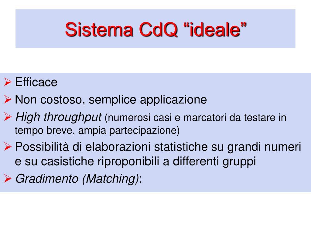 "Sistema CdQ ""ideale"""