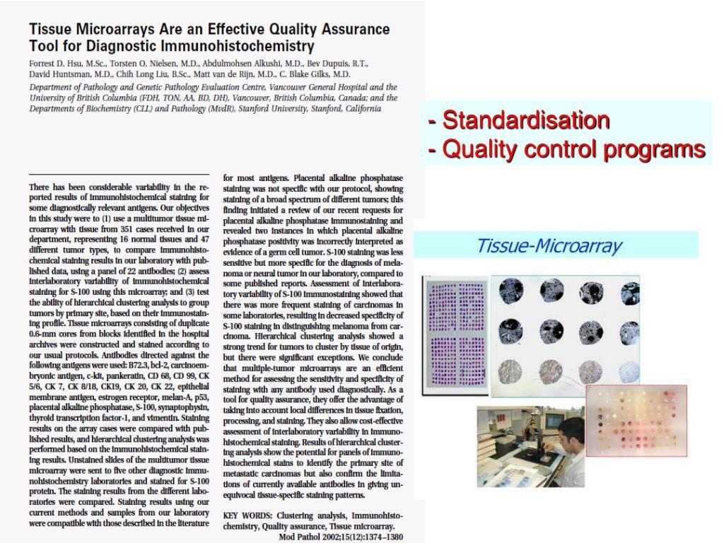 - Standardisation