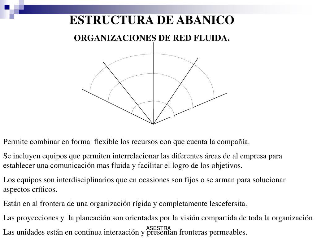 ESTRUCTURA DE ABANICO