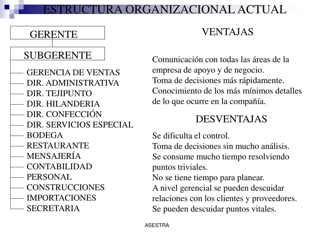 ESTRUCTURA ORGANIZACIONAL ACTUAL