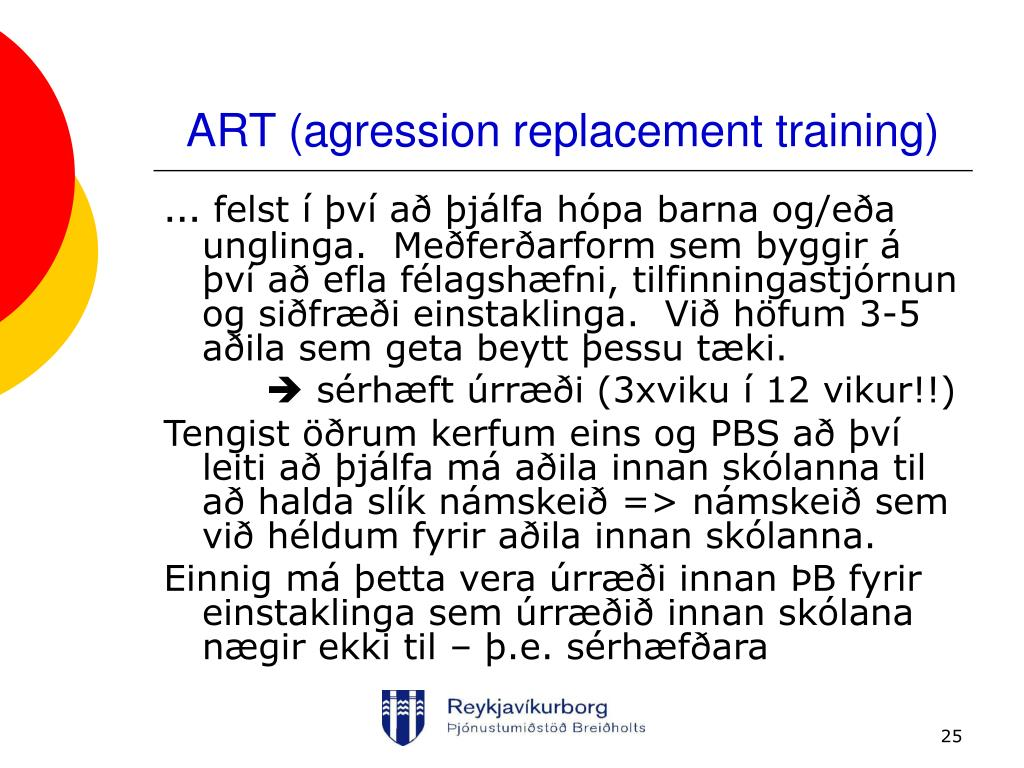 ART (agression replacement training)