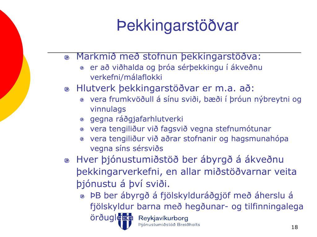 Þekkingarstöðvar