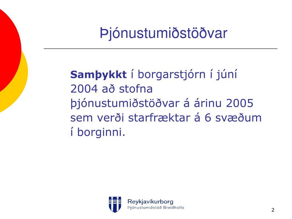 Þjónustumiðstöðvar