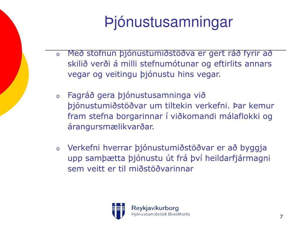 Þjónustusamningar