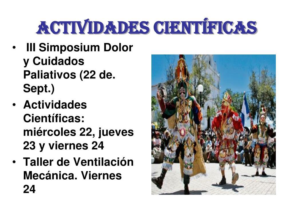 III Simposium Dolor y Cuidados Paliativos (22 de. Sept.)