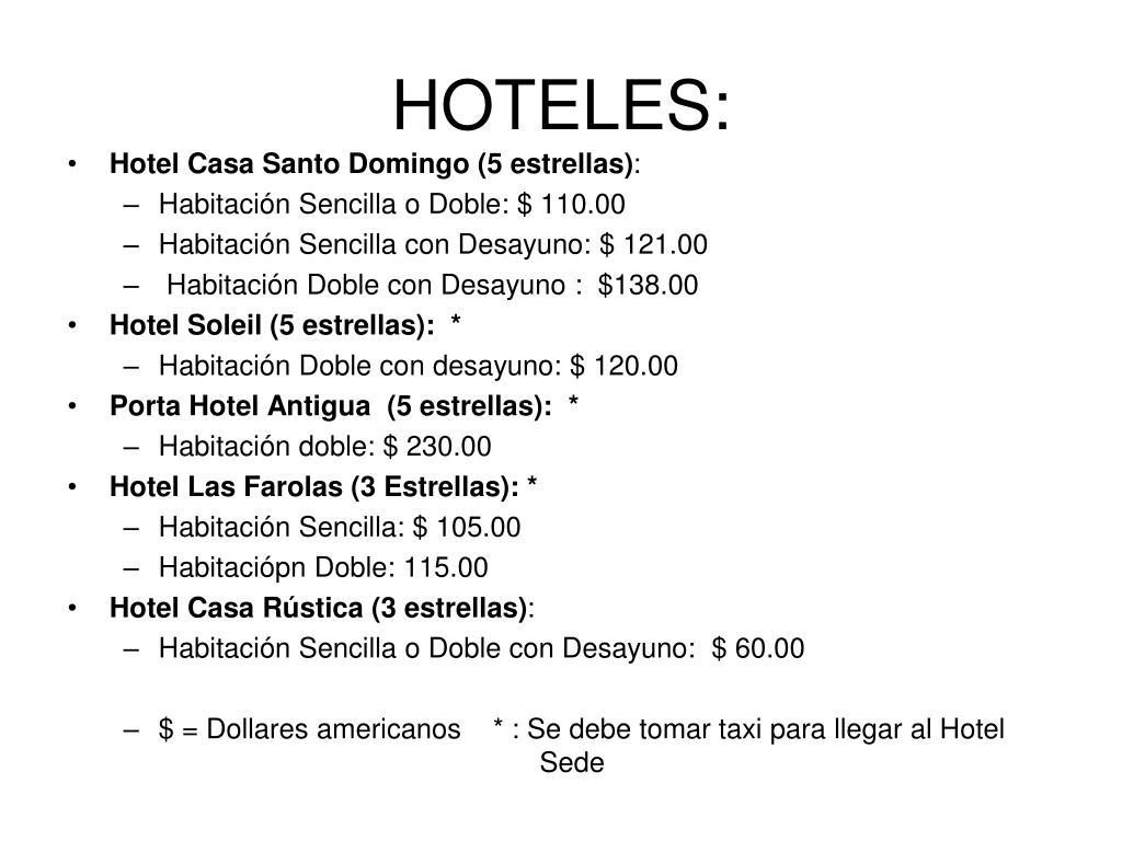 HOTELES: